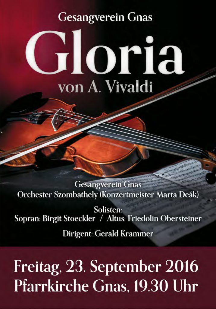 Gloria. Gerald Krammer mit dem Gesangsverein Gnas