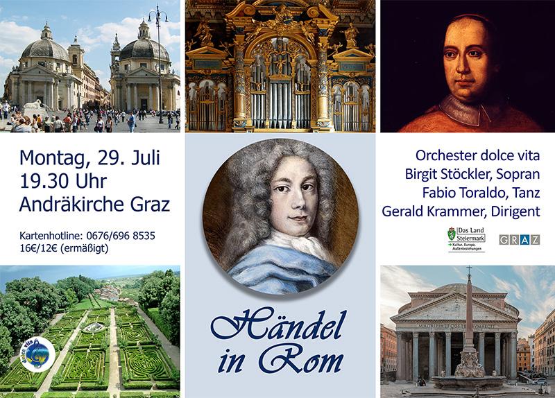 Händel in Rom. Ein barockes Konzerterlebnis für Auge und Ohr.